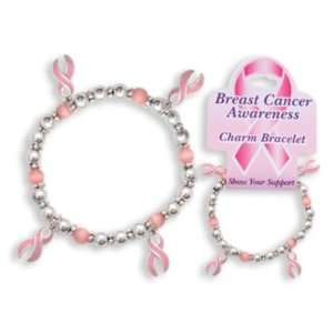 Breast Cancer Awareness Charm Bracelet Case Pack 3
