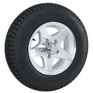 Bias Ply Trailer Tire & 12x4 Star 5 Bolt Trailer Wheel Automotive