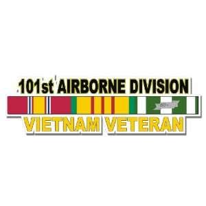 US Army 101st Airborne Division Vietnam Veteran Window Strip Decal