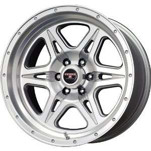 Level 8 Strike 6 Matte Silver Machined Wheel (17x9