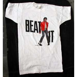 Michael Jackson Beat It T Shirt from 1983   Size Medium