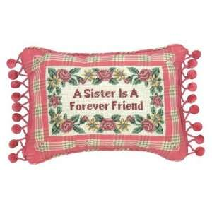 123 Creations C240.9x12 inch A Sister is Petit Point Pillow   100