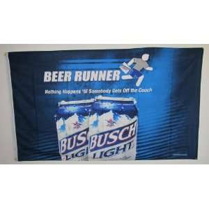 Busch Beer Runner Flag: Patio, Lawn & Garden
