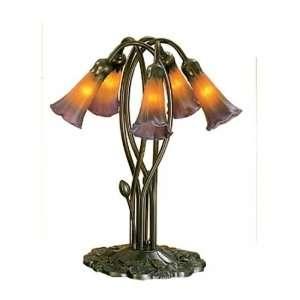 Meyda Tiffany 14962 5 Light Lily, Mahogany Bronze Finish