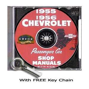 1955 1956 Chevrolet Chevy Repair Shop Service Manual Car CD 55 56 with