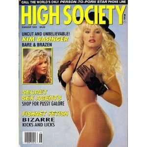 High Society Magazine August 1991 Kim Basinger: Books