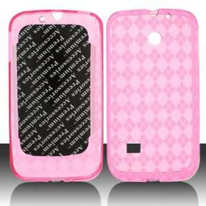 Huawei M865 Ascend II Crystal Skin Hot Pink Case Cover