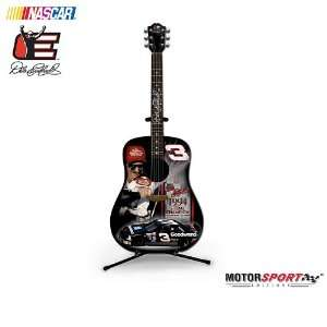 Dale Earnhardt 7 Time Champion Sculptural Guitar Figurine