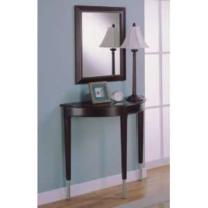 All new item 3 pc pack cherry finish wood hall console table , mirror