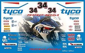 2012 BSB Tyco Ful Race Decal Sticker Set