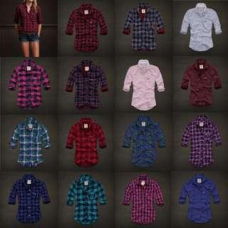 BY Abercrombie Womens Plaid Shirt Top Camisa New Authentic Sz XS S M L