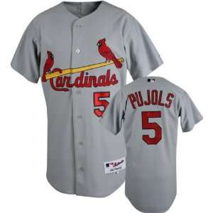 Albert Pujols Majestic MLB Road Grey Authentic St. Louis Cardinals