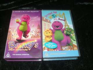 10 BARNEY VIDEOS GREAT COLLECTION VHS VIDEO PAL~ A RARE FIND~ FUN