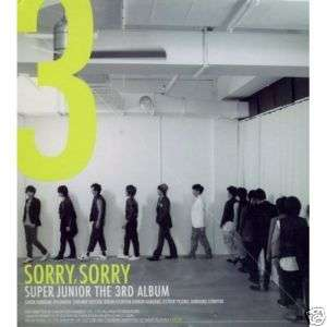 Super Junior   Sorry, Sorry A Version CD KPop Sealed