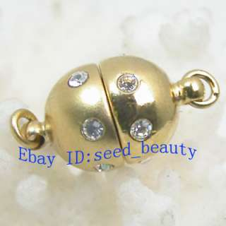 Magnet Rhinestone Yellow Gold Filled Clasp 9mmx16mm