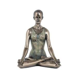 Woman Figure in Yoga Lotus Position Collectible Gift: Home & Kitchen
