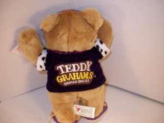 1990 Teddy Grahams Bear 11 Plush Applause w/tags