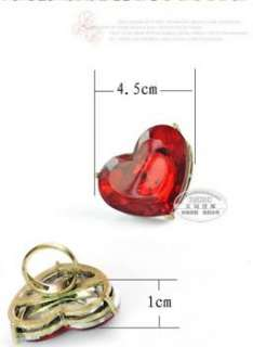 Fashion Love & Big Red Heart Rhinestone Cute Ring Rings w159 great