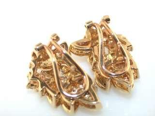 TRADITIONAL DIAMOND 14K YELLOW GOLD EARRINGS