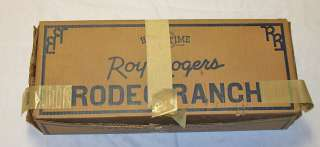 50 Old Roy Rogers Rodeo Ranch playset chuck wagon horse men toy w box