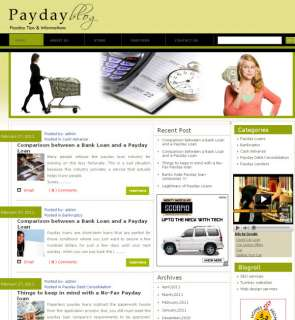 Turnkey Money Making PAY DAY LONE Website for Sale