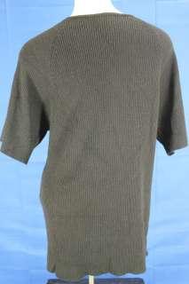 Avenue Black Ribbed V neck Sweater Shirt 22 24 Plus