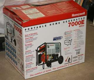 NEW HONEYWELL HW 7000E 7000 Watt 420cc Electric Start Portable Home