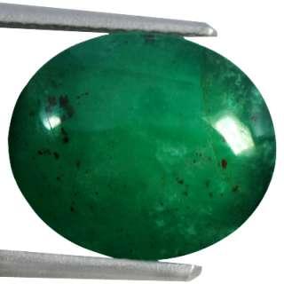 Natural Rare Top Green Emerald Loose Gemstone Oval Cab Zambia Unheated