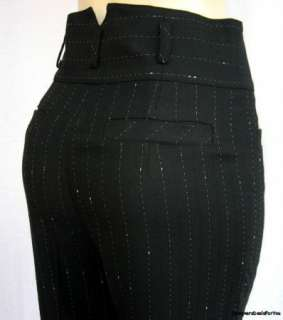Nanette Lepore $495 Womens Black Dress Pants 8/42 NWOT