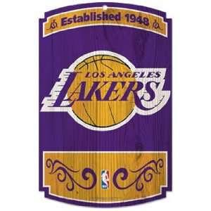 LA Los Angeles LAKERS NBA Basketball Hardboard WOODEN SIGN