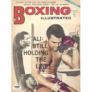 Muhammad Ali Autographed/Hand Signed Boxing Illustrated