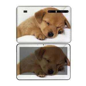 Motorola Xoom Decal Skin Sticker   Animal Sleeping Puppy