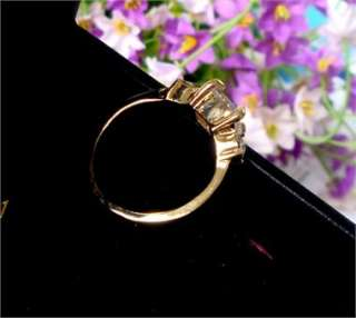 New lady gift yellow Gold filled zircon ring YR10 18k