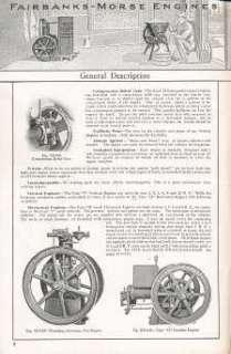 1910 Fairbanks Morse Engine Catalog on CD