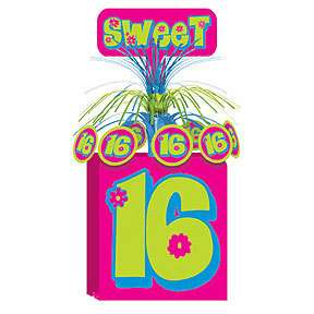 Sweet 16 16TH BIRTHDAY Party Hot Pink Centerpiece   NEW