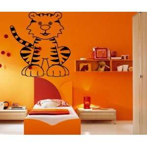 Cartoon Tiger Kids Room Nursery Animal Design Wall Mural Vinyl Decal