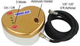 Airbrush Kit Air Compressor Dual Action Nail Art Stencil Sheet Design