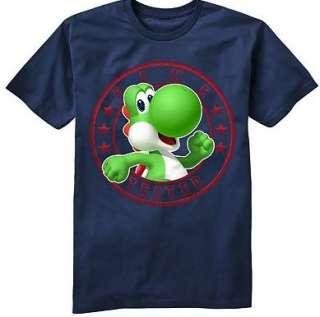 YOSHI Short Sleeve Shirt Tee 8 10 12 14 16 18 20 GAME TESTED