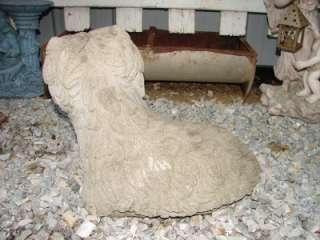 Vintage Concrete Yorkie Dog Yard Garden Ornament