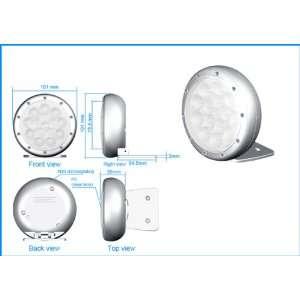 Polycarbonate White LED Motorcycle Fog Light Kit