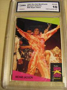 MICHAEL JACKSON 1991 PROSET SUPER STARS # 68 GRADED 10
