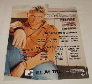 2002 music industry ad page~ NICK CARTER Help Me