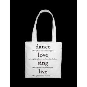 Quotable Tote Bag  Dance, Love, Sing Souza