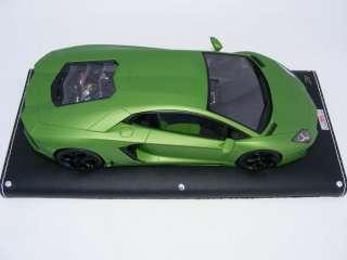 18 MR Lamborghini Aventador 2011 Matt Metallic Green Limited to 33