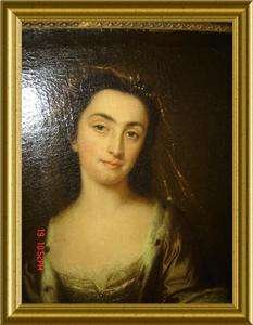 ANTIQUE ENGLAND LADY PORTRAIT WITH BOOK Lewis Theobald Shakespeare OIL