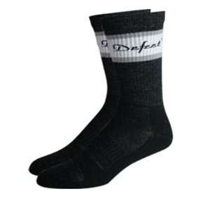 DeFeet Classico Grey/White Wool Cycling/Running Socks