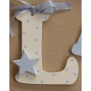 Blue Polka Dot Wooden Mix & Match Wall Letter Toys & Games
