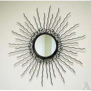 Sun Starburst Contemporary Spoke Wall Mirror Art
