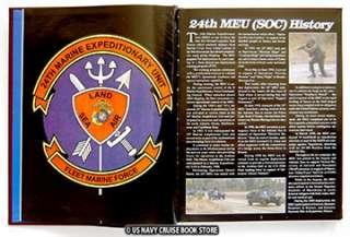 USMC 24th MEU MEDITERRANEAN CRUISE BOOK 2001