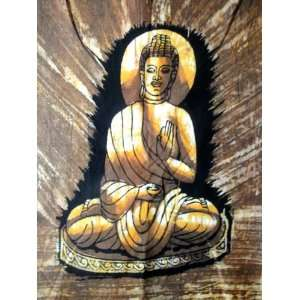 Lord Buddha Indian God Meditation Cotton Fabric Tapestry Batik